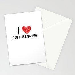 I Love Pole Bending Stationery Cards