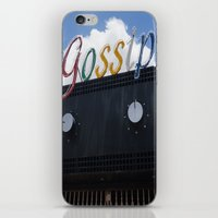 gossip girl iPhone & iPod Skins featuring Gossip by Claire Elizabeth Stringer