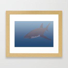 The great white Framed Art Print