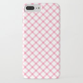 Pink and White Tartan iPhone Case