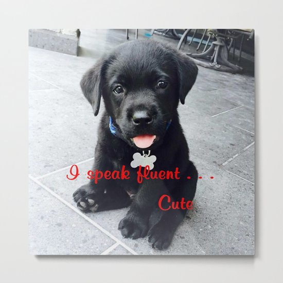 I speak fluent . . . Cute Metal Print
