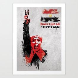 Fight Like An Egyptian Art Print