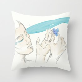 Parvaneh (The Butterfly) Throw Pillow
