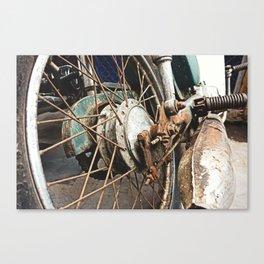 Motorcycle Wheel Canvas Print