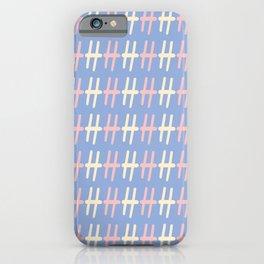 Upper Case Letter H Pattern iPhone Case