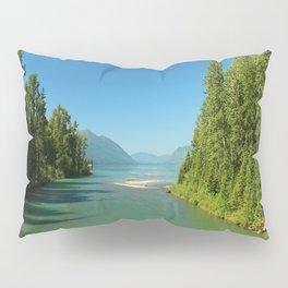 Green Waters Of McDonald River And Lake Pillow Sham