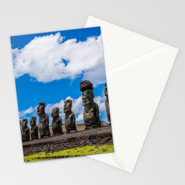 Moai Monolithics on Easter Island Stationery Cards