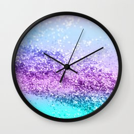 Unicorn Girls Glitter #14 #shiny #decor #art #society6 Wall Clock