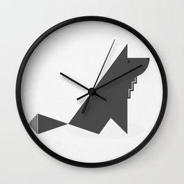 Gray Wolf Wall Clock