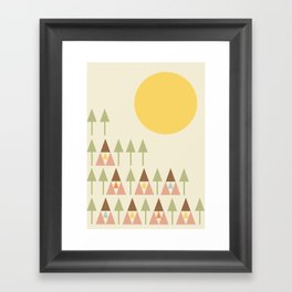 Happy Camper Framed Art Print