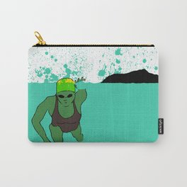 Swimmer at Diamond Head Carry-All Pouch
