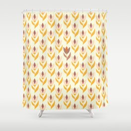 Field of tulips light background Shower Curtain