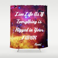 inspiration Shower Curtains featuring Rumi by 2sweet4words Designs