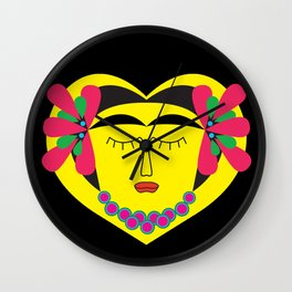 Frida Kahlo Wall Clock