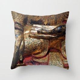 Golden Buddha Hand Mudra Throw Pillow