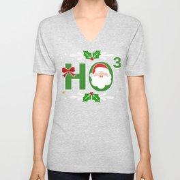 Ho3 Santa Claus Math Nerd Math Geek Ho Ho Ho Unisex V-Neck