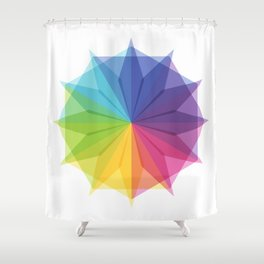 Fig. 010 Colorful Star Shape Shower Curtain