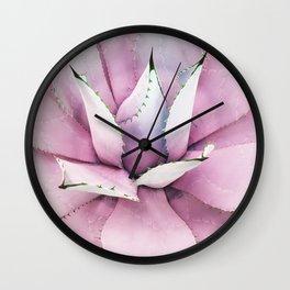 Pink Succulent Wall Clock