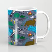 camping Mugs featuring Camping by Chris Piascik