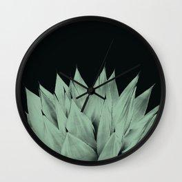 Agave Dark Night Vibes #1 #tropical #decor #art #society6 Wall Clock