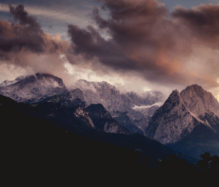 Cross Mountains #sunset Metal Travel Mug