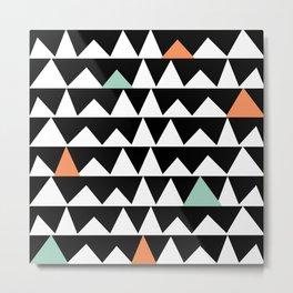 Tribal Triangles, Geometric Aztec Andes Pattern Metal Print