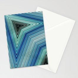 Pattern Zig Zag blue Stationery Cards