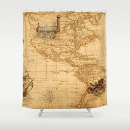 Vintage Map of America Shower Curtain