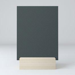 PPG Night Watch Pewter Green Small Scallop, Wave Pattern Mini Art Print