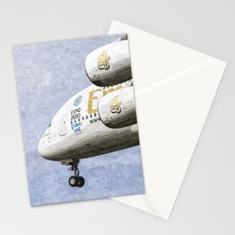 Emirates A380 Airbus Oil Stationery Cards