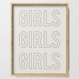 GIRLS GIRLS GIRLS Serving Tray