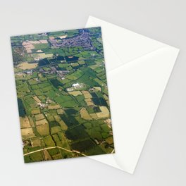 aerial view fields british countryside map pattern Stationery Cards