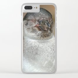 Sleepy Young Penguin Clear iPhone Case
