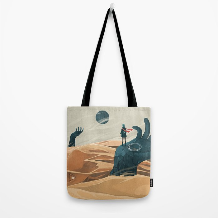 The wanderer and the desert portals Tote Bag