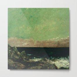 "Gustave Courbet ""The Mediterranean"" Metal Print"