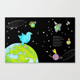 "Floating In Space (from the book, ""You, the Magician"") Canvas Print"