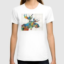 Colorful Moose Art - Confetti - By Sharon Cummings T-shirt