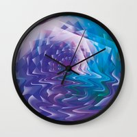 trippy Wall Clocks featuring Trippy by Jan Wurtmann