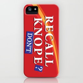 Recall Knope iPhone Case