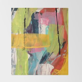 Hopeful[2] - a bright mixed media abstract piece Throw Blanket