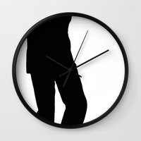 storm trooper Wall Clocks featuring Trooper... Storm Trooper 3 by Derek Donovan