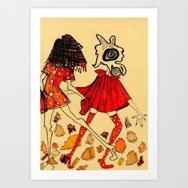 Red Ladies Art Print