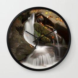 Crescent Crater Falls Wall Clock