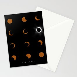 Total Solar Eclipse August 21 2017 Stationery Cards