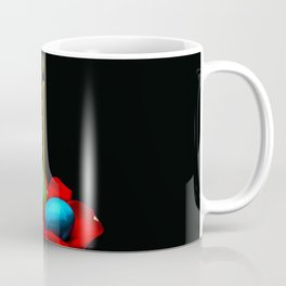 Easter Candle, Painted Eggs, Rose Petals On Black Coffee Mug