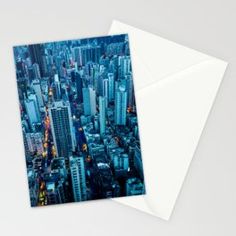 Hong Kong downtown at night Stationery Cards