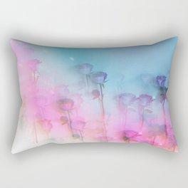 Pretty Pink Roses Rectangular Pillow