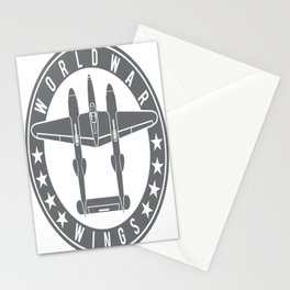 P-38 Lightning Logo  Stationery Cards