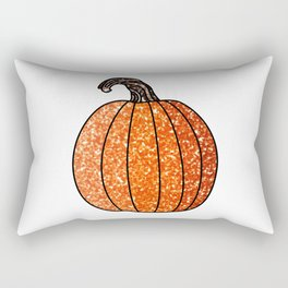 Glitter Pumpkin Rectangular Pillow