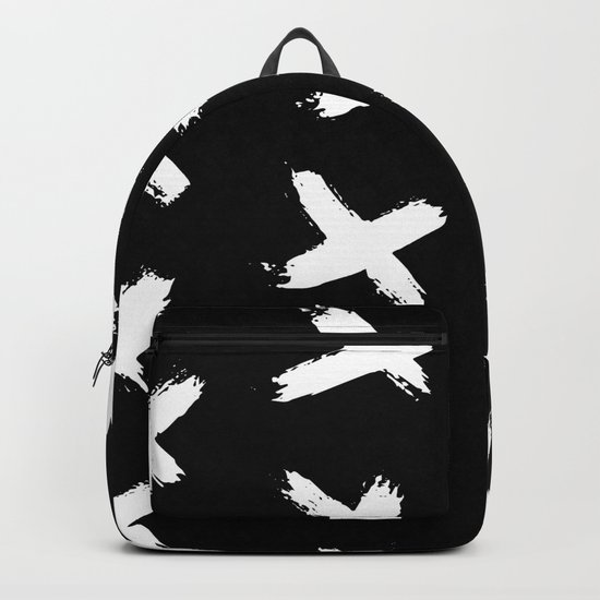 The X White on Black Backpack